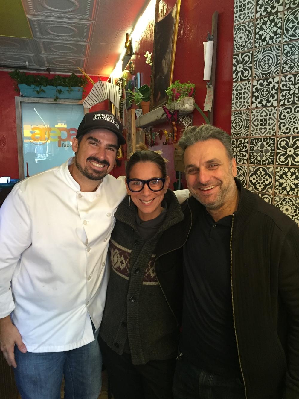 Chef Rafael I. De Garate, Owner Monica Muzzo, & Consultant Gian Luca Giovanetti