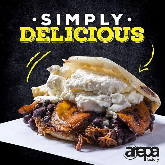 This delicious arepa can be enjoyed at anytime of the day! That's only one of the reasons to love this versatile meal #ArepaFactoryNYC 📍147 Avenue A, East Village, NY 📍Turnstyle, Columbus Circle Subway Station, NY East Village, NY ¤ ¤ #eatoutnyc #arepas #arepasvenezolanas #bestarepasever #newrestaurantsnyc #eastvillage #bestarepanyc #bestarepasever #glutenfree #healthyeating #cachapas #cachapasvenezolanas #fresh #freshingredients #venezuelanfood #venezuelanarepa #venezuelansinnyc  #buzzfeed #foodpic #foodgasm #gastroart