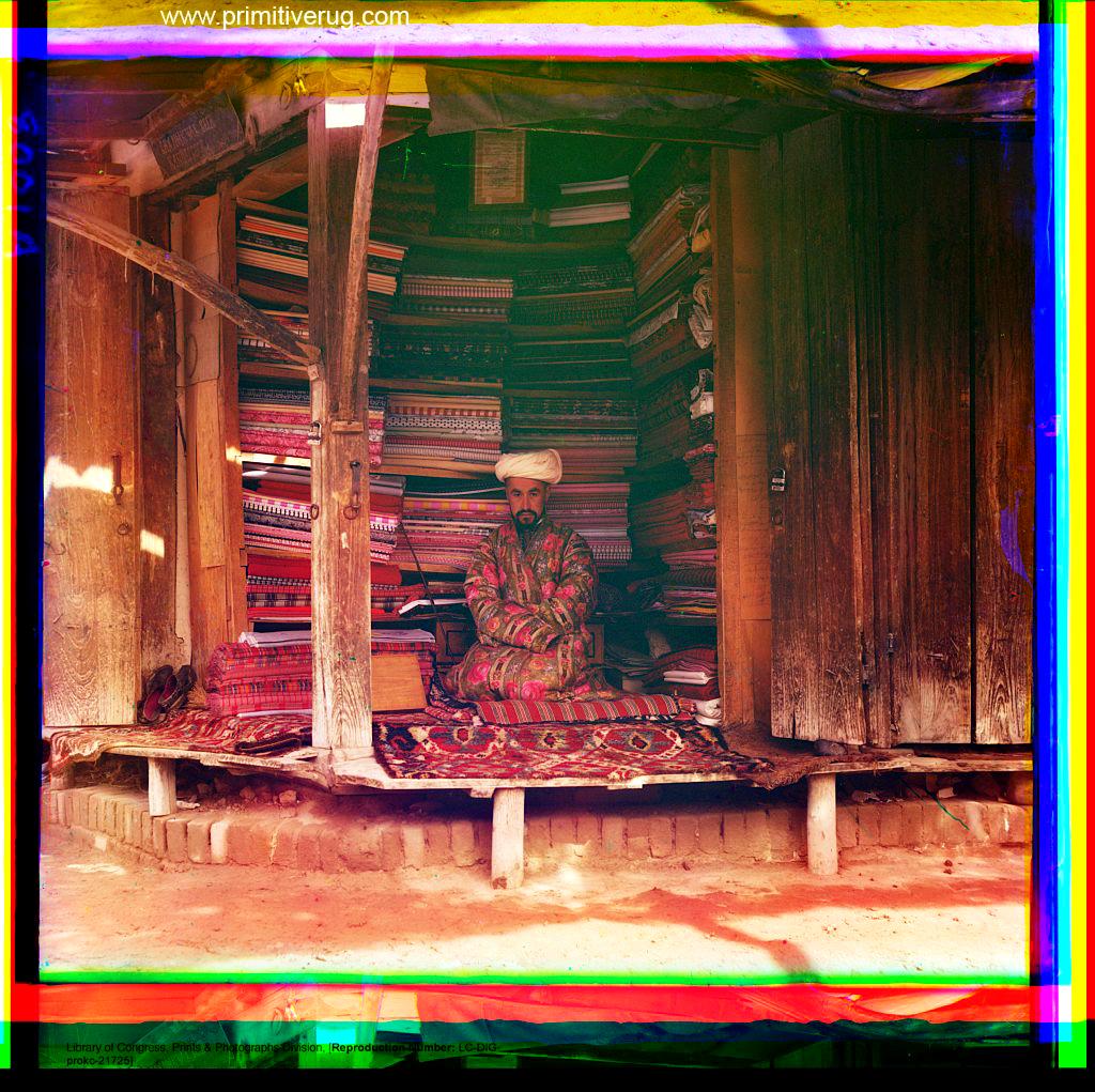 Uzbek Julkhirs floor rugs - cloth merchant Samarqand