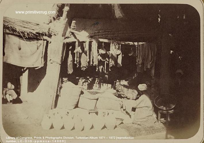 Rams Horn motif on Samarqand Julkhirs Circa 1870