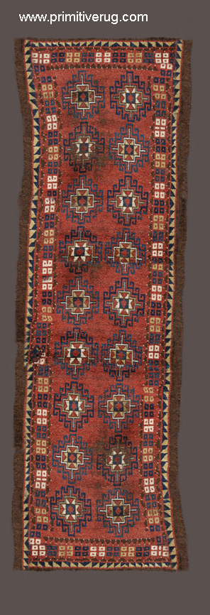 """Darya Uzbek"" Julkhirs one - piece long shaggy rug."