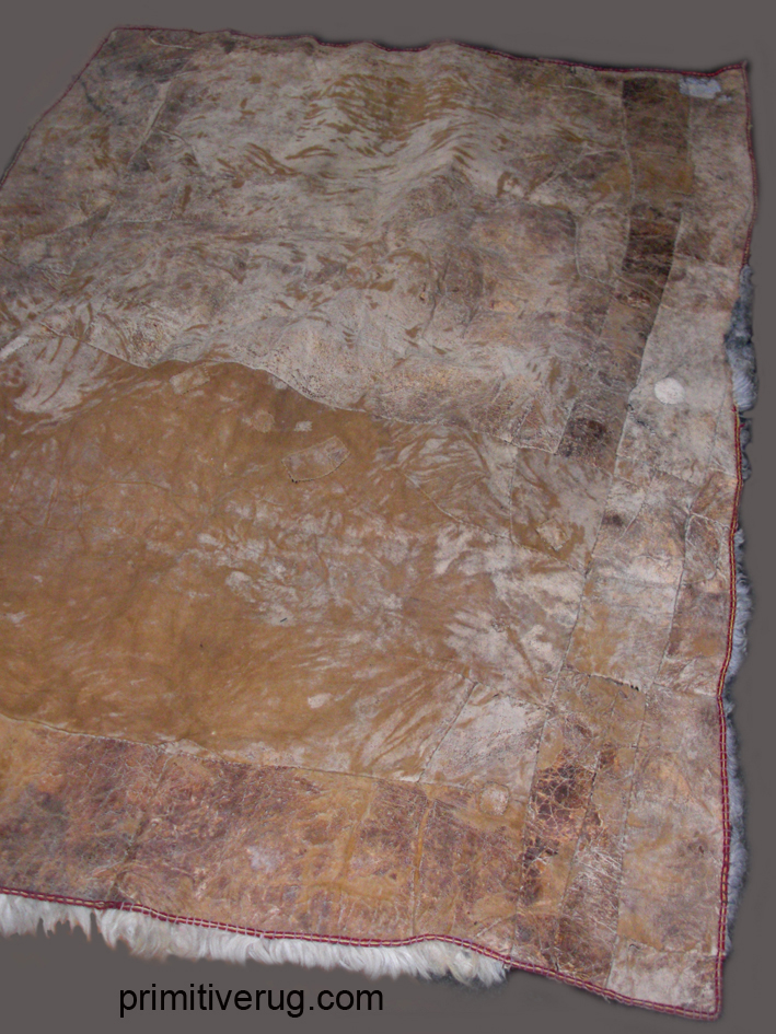 Back of Kirghiz pieced skin rug