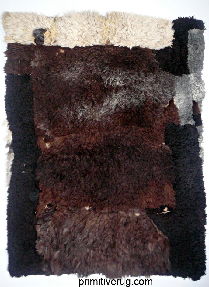 Kirghiz primitive skin rug