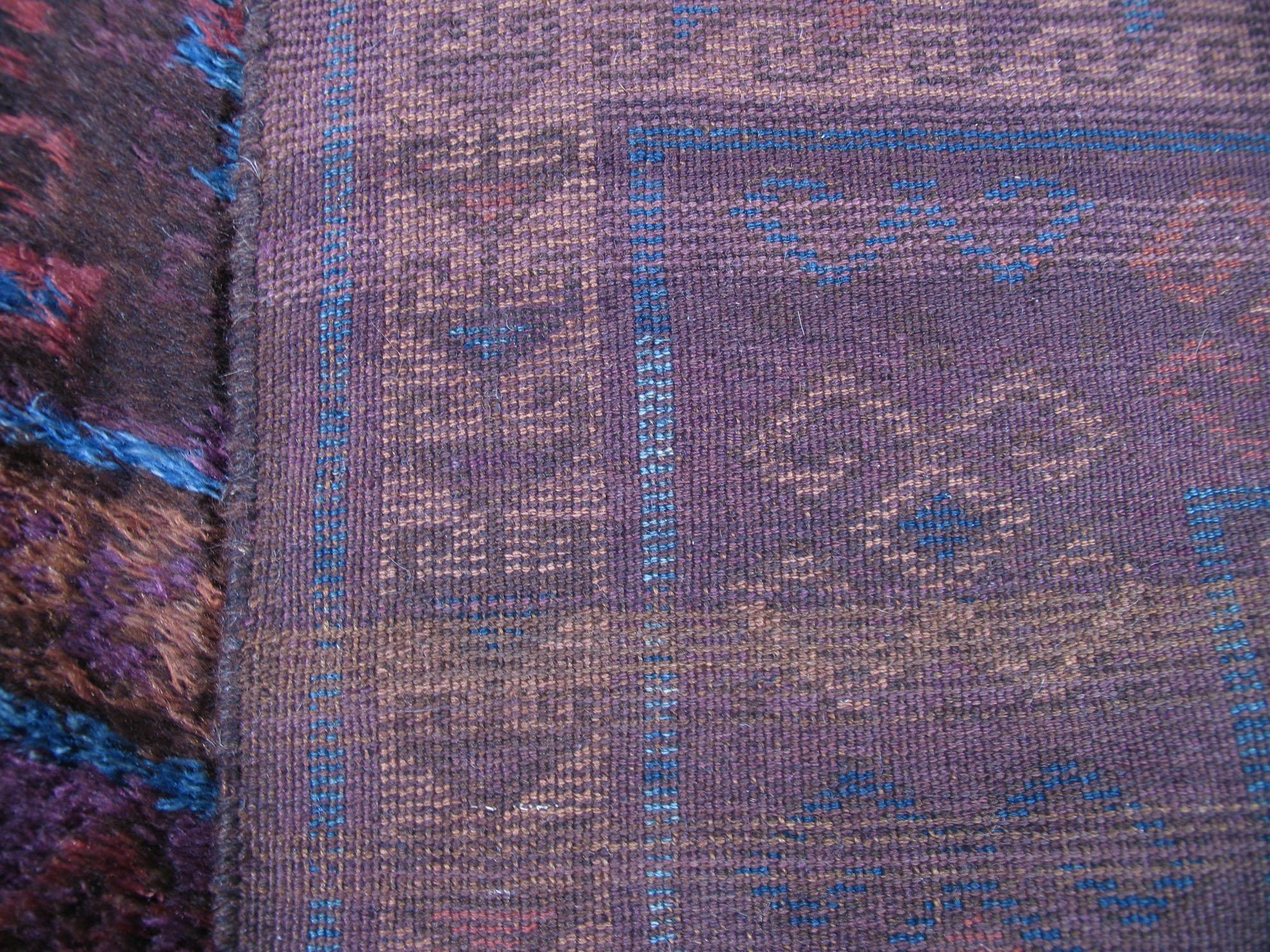 Hazara back of rug