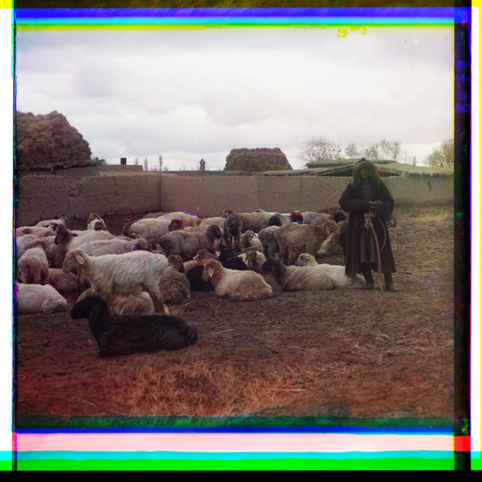 Shepherd Samarkand Circa 1910 Prokudin-Gorskii