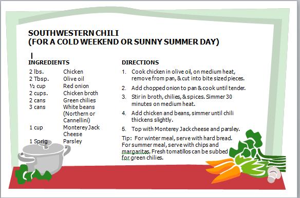Soiuthwestern Chili Recipe