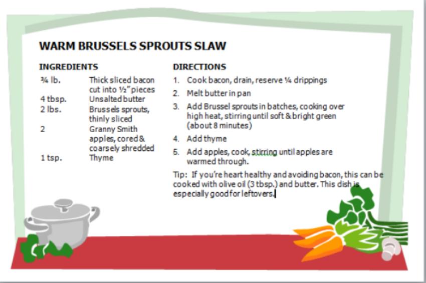 Warm Brussels Spouts Slaw Recipe