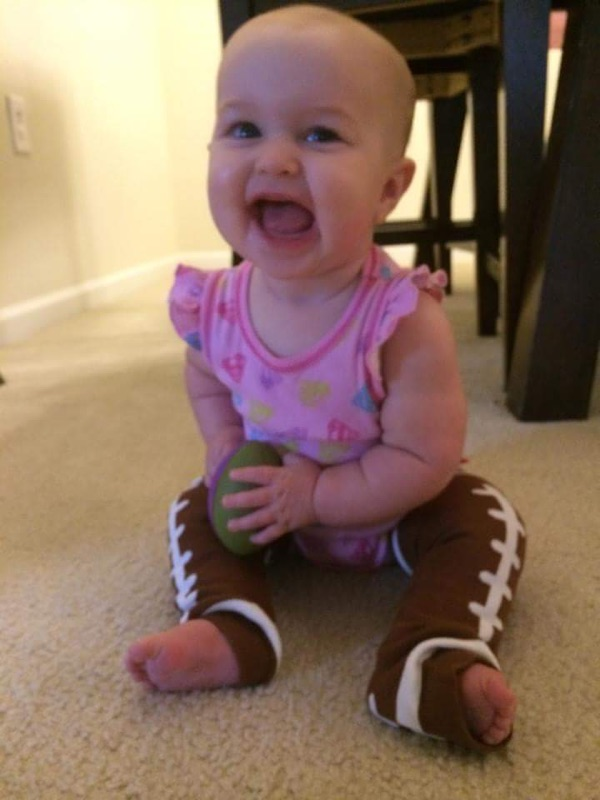 Sadie Jane ready for some football. (Couldn't resist, my granddaughter.)
