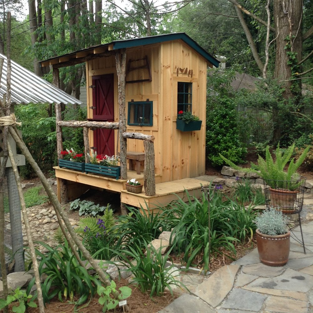 A garden shed with style can be incorporated into the garden, not hidden away behind the garage.
