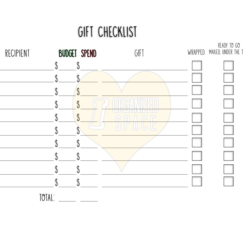 Click the image to download the Gift Checklist PDF!
