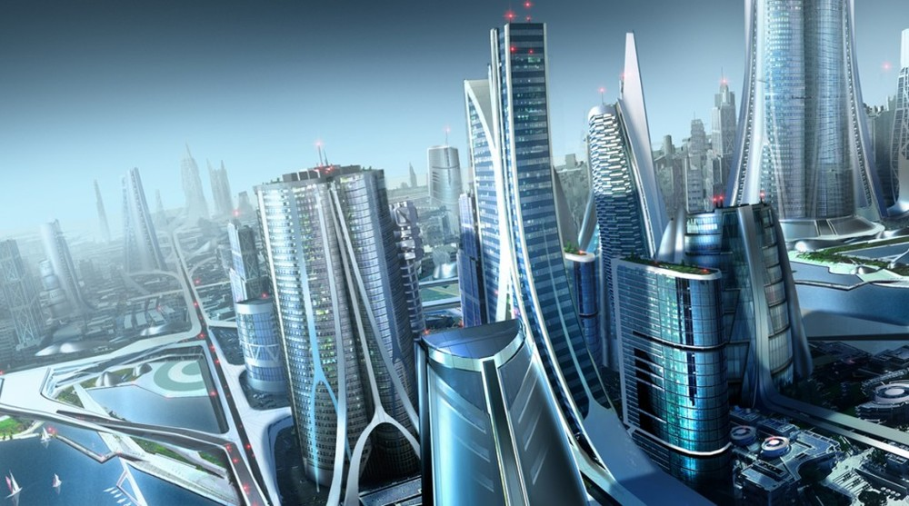 Futuristic City and SciFi City Concept Art Design Post