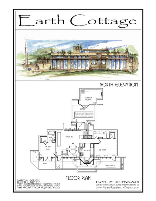 Earth Bermed/Sheltered — Terra Homage™ Artisans Organic Home Plans