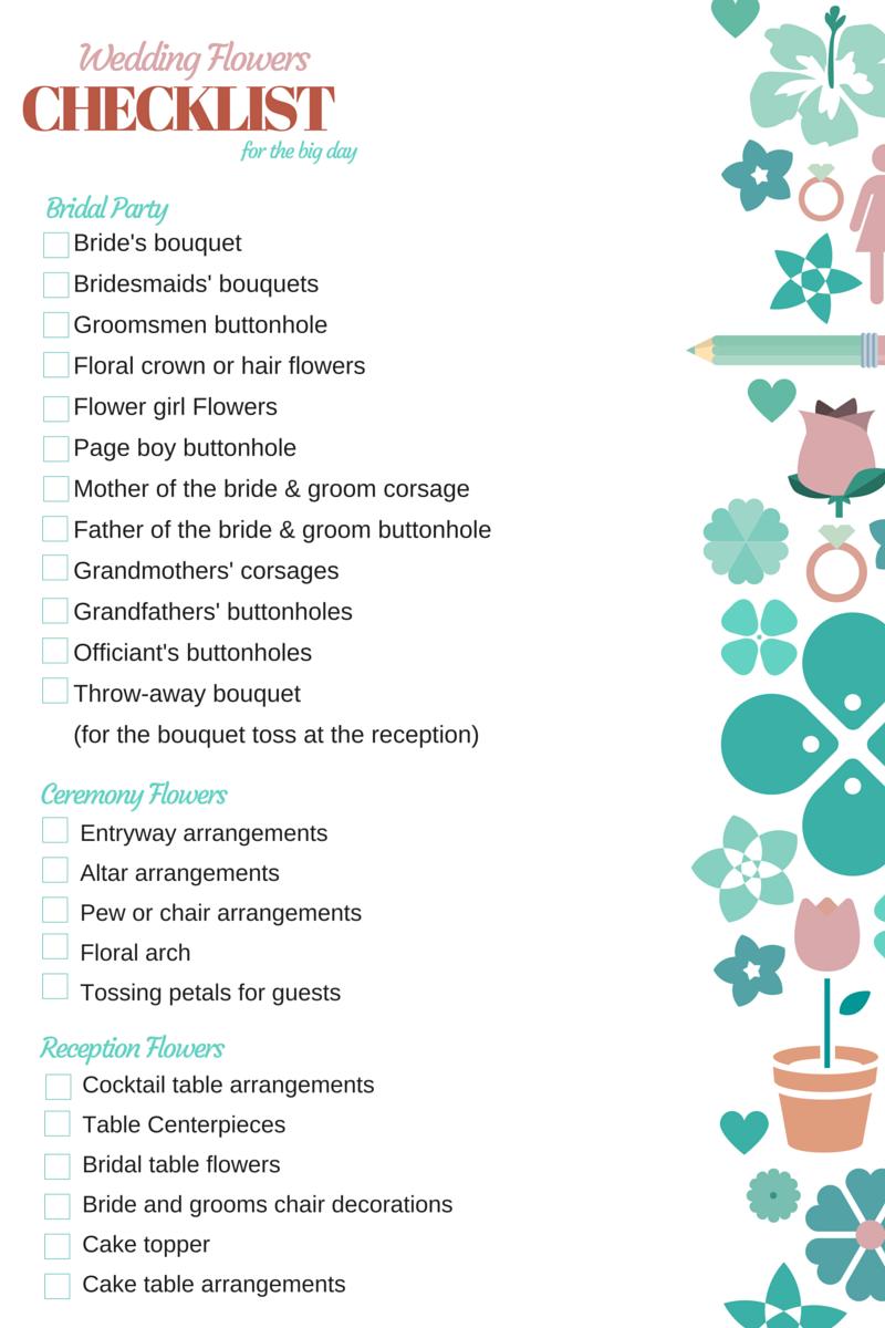 orchid vine florist wedding flowers checklist. Black Bedroom Furniture Sets. Home Design Ideas