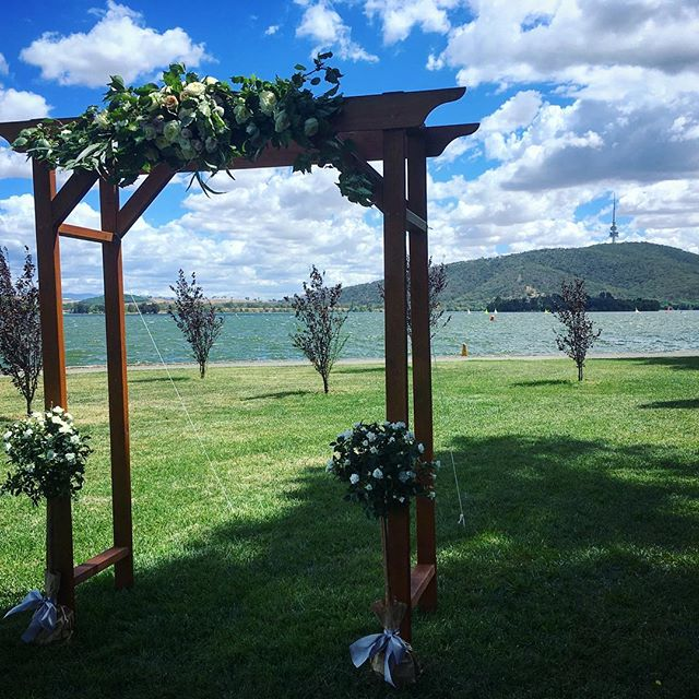 That view #telstratower #narapark #arbour #weddingceremony