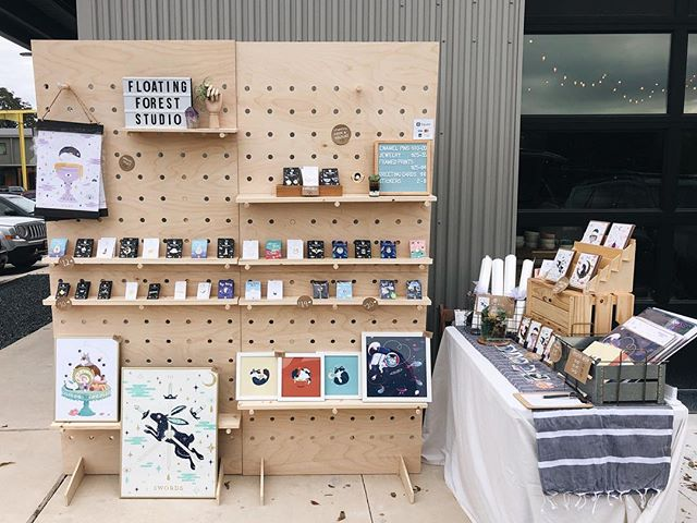 Newest display setup 🔨 ✨💪🏻 If you're in Austin come stop by this weekend during EAST! I'll be at @broadstudios with some superbly talented ladies. • Here's my winter crafter fair lineup: Nov 24-Dec 24 @bluegenieartbazaar  Nov 24-25th @renegadecraft  Dec 8-9 @ Cherrywood Art Fair by @chulaleague