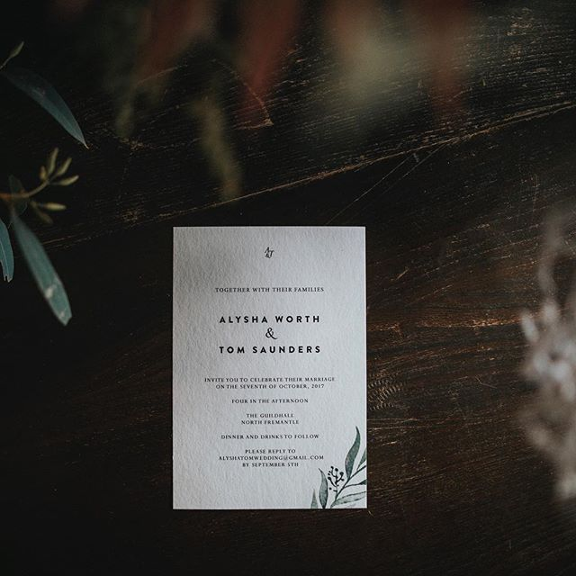 My very first wedding invitation design for a very special couple. Thank you for sharing this photo with me. #invite #wedding #fremantle #perth