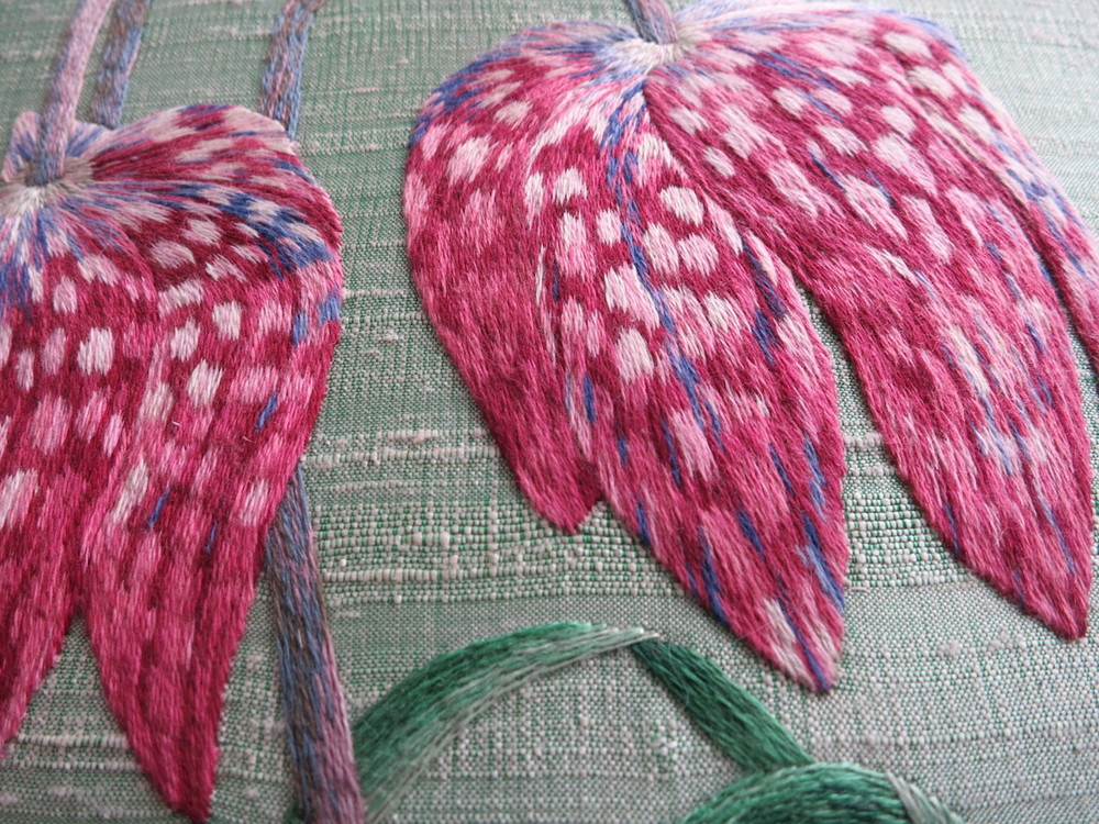 Mary Brown - Silk shaded fritillary flower