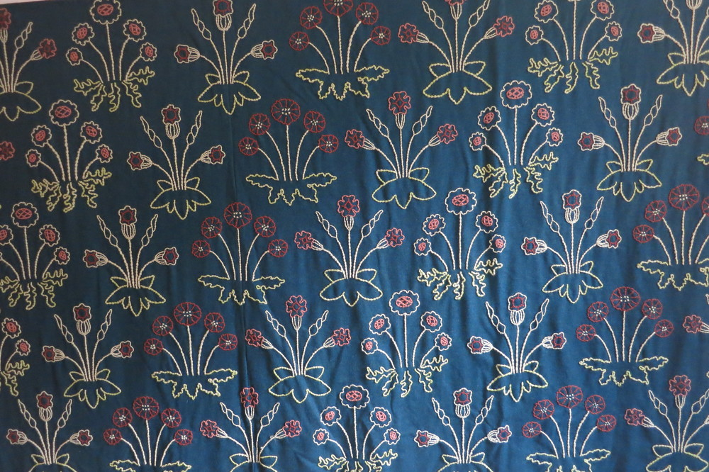Embroidered wall hanging in William Morris's 'Red House'