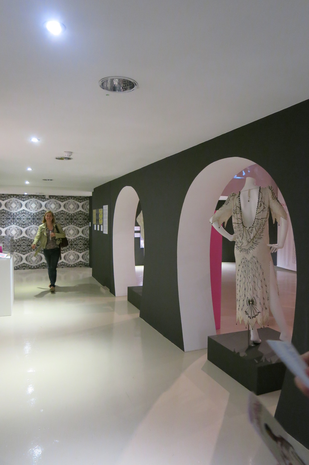 Entrance into the 'Unseen' exhibition of Zandra Rhodes' exhibition at the Fashion & Textile Museum, London 2013