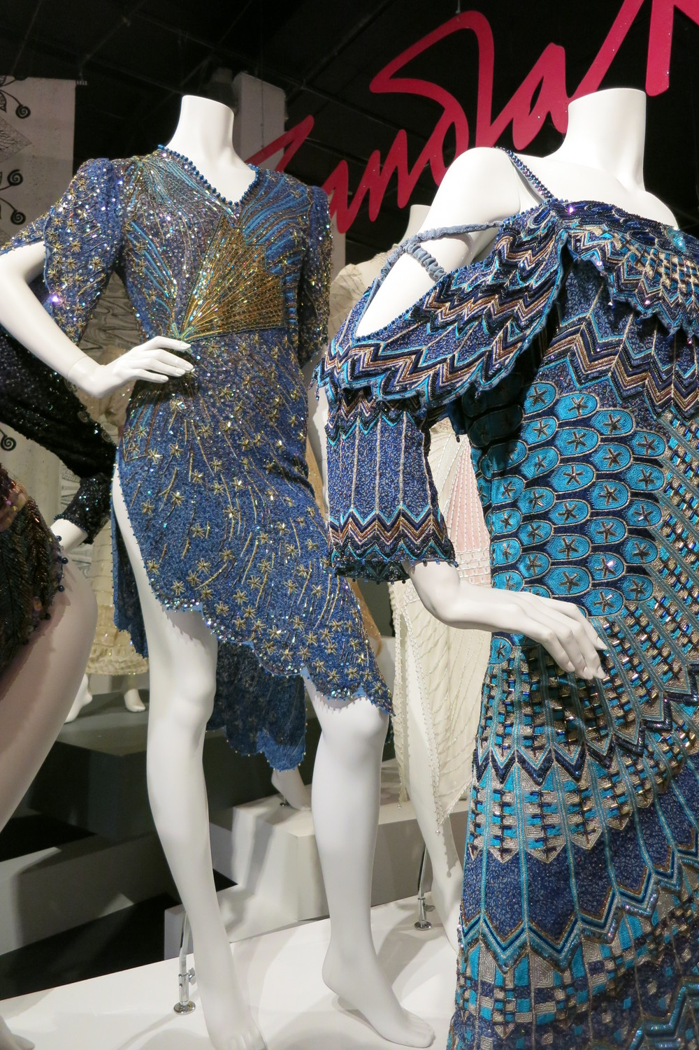 Zandra Rhodes exhibitio at the Fashion & Textile Museum, Bermondsey, London 2013