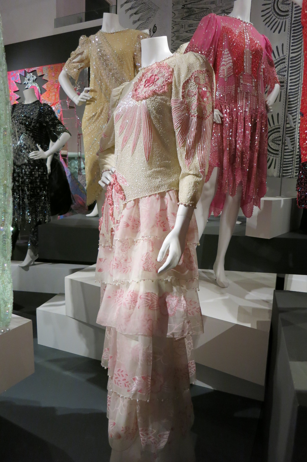 Zandra Rhodes exhibition at the Fashion & Textile Museum, Bermondsey, London 2013