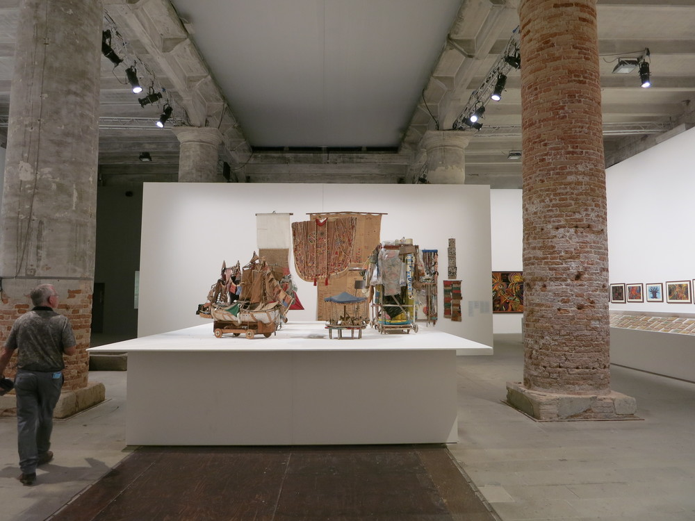 The Arsenale, 55th Venice Biennale. A view of Arthur do Rosario's work
