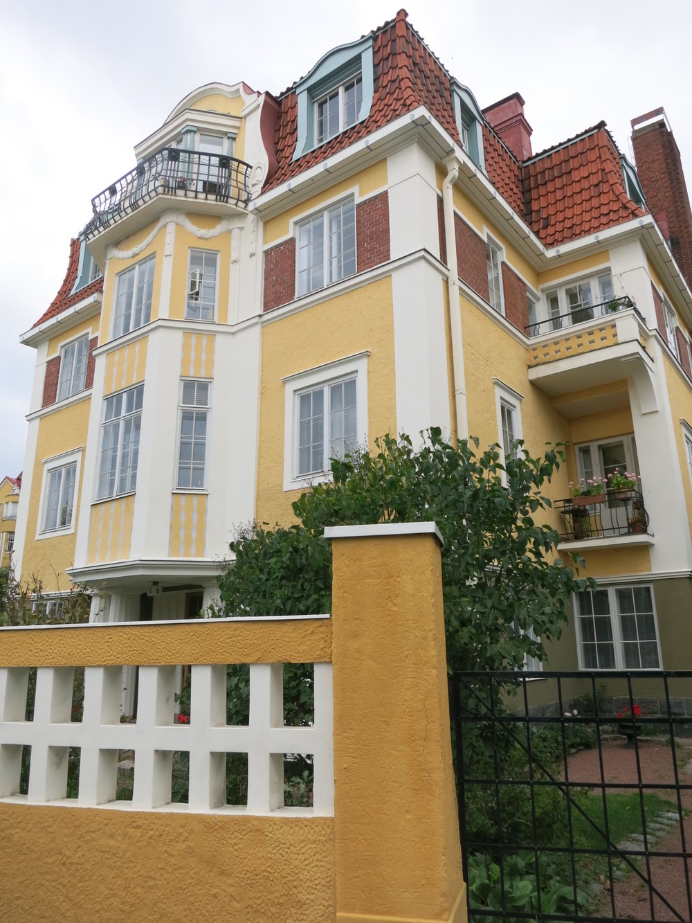 Art Nouveau homes in the Eira neighbourhood of Helsinki
