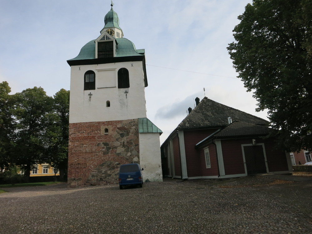 The Medieval cathedral in the Old Town of Poovoo in Finland