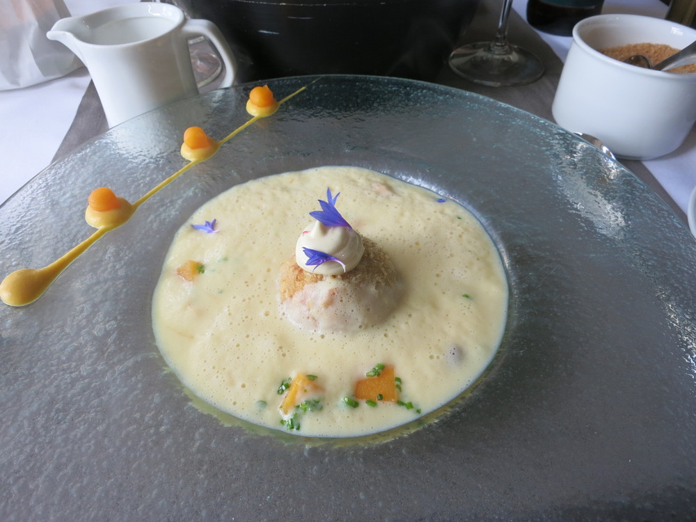 My pumpkin soup in a restaurant in the Old Town of Poovoo