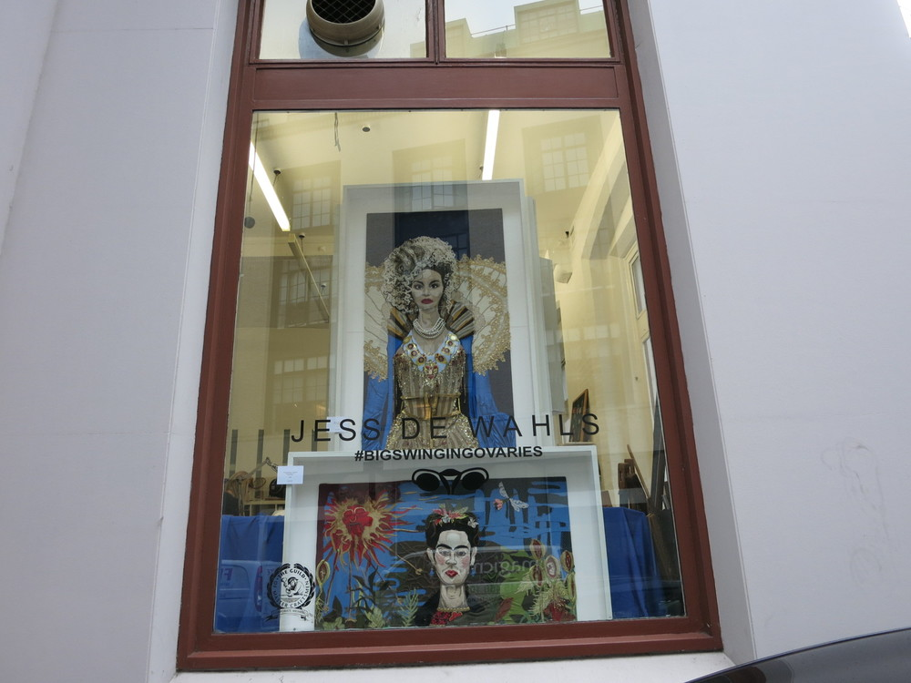 Hand & Lock have work by Jess de Wahls in their windows