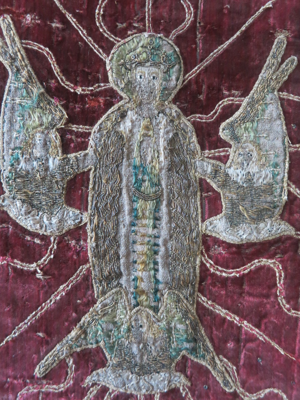 The Assumption of the Virgin Mary on the velvet of the Skenfrith Cope