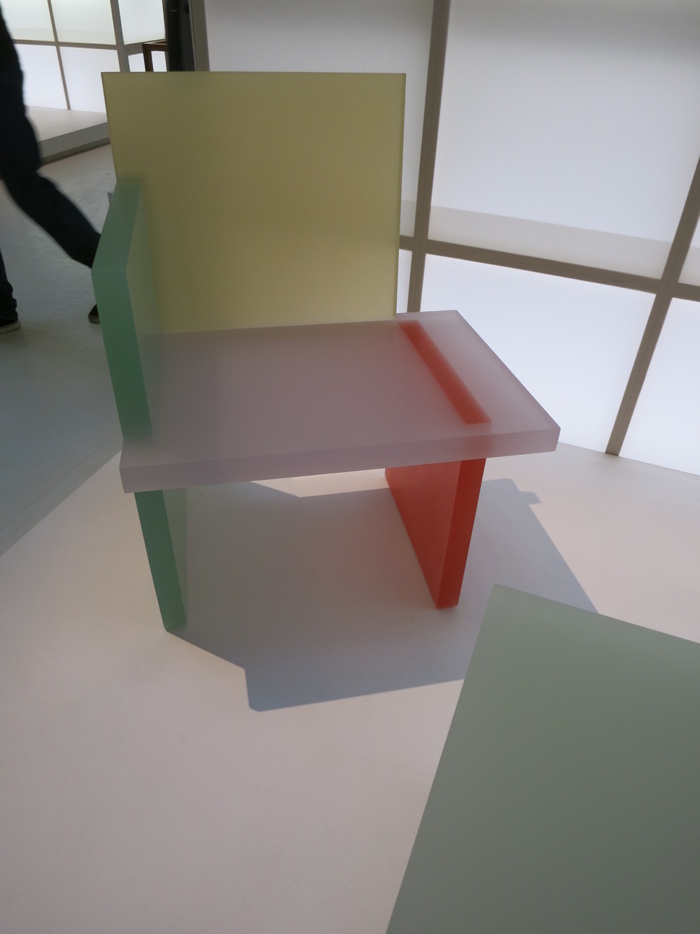 Musee des Art Decoratifs, Paris. 'Korea Now' exhibition 2015. The resin chair designed by Park Won-min