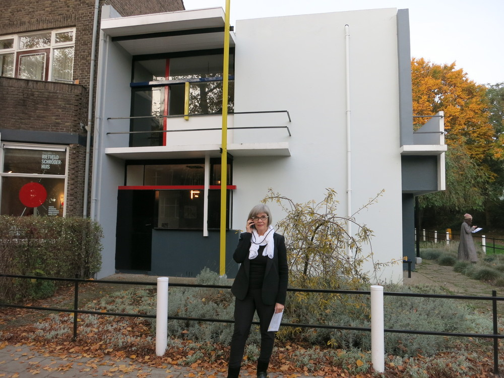 The Rietveld Shroder House in Utrecht, Netherlands.