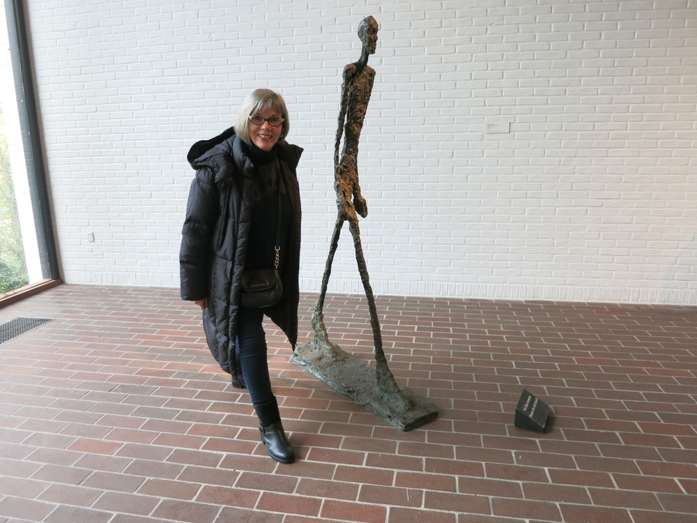 Louisiana Museum of Modern Art, Humlebaek, Denmark. Alberto Giacometti's 'Man Walking'.