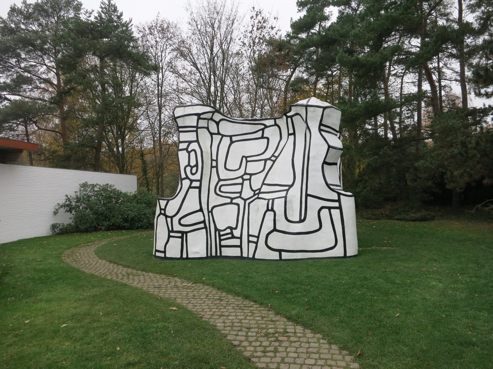 Louisiana Museum of Modern Art, Humlebaek, Denmark. Jean Dubuffet's 'Manoir d'essor' 1969