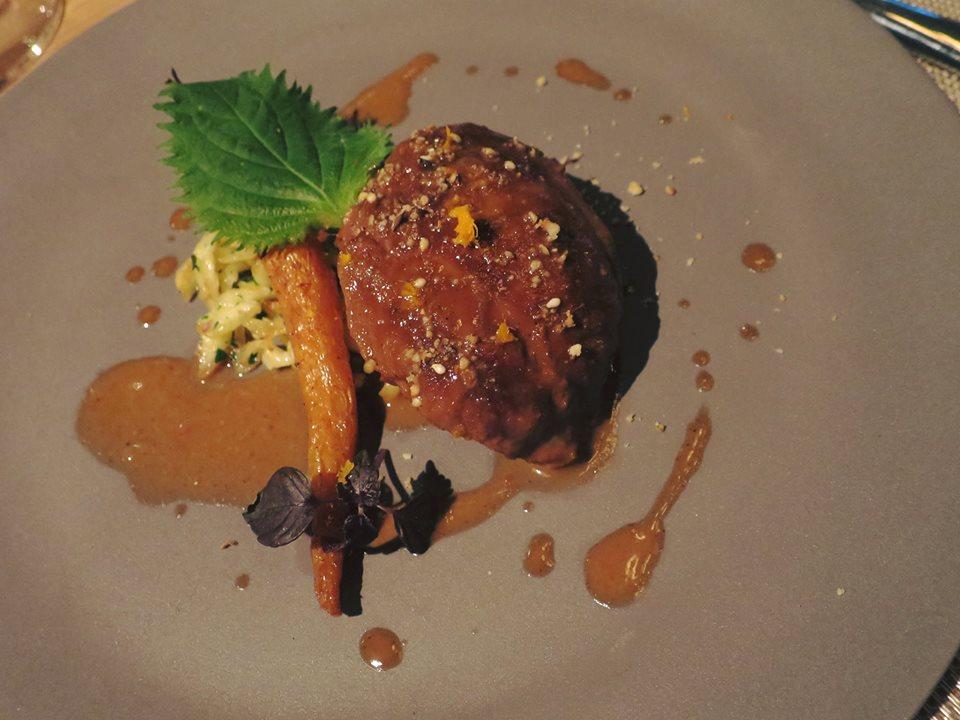 8. Tandoori braised Iberico pork cheek, Spatzle, Roasted young carrots, Dukkah.jpg