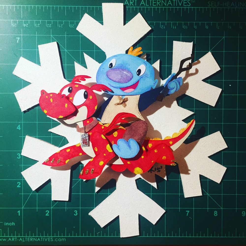 Wallykazam! Christmas Ornament - 2015