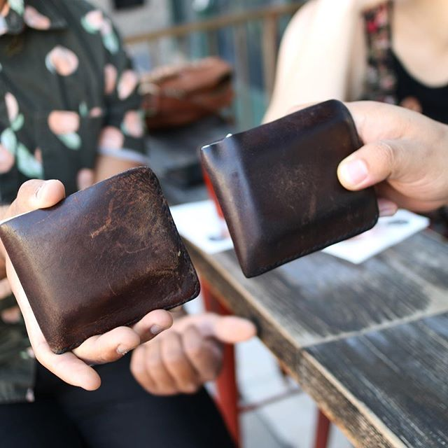 These Five Pockets! 😍 3+ years on each - - #deakinhandmade #leathergoods #edc #everydaycarry #menswear #menstyle #losangeles #madeinlosangeles #madeinla #builttolast #patina