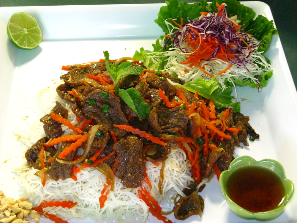 Fresh Mint Lemongrass Soy Beef Delight