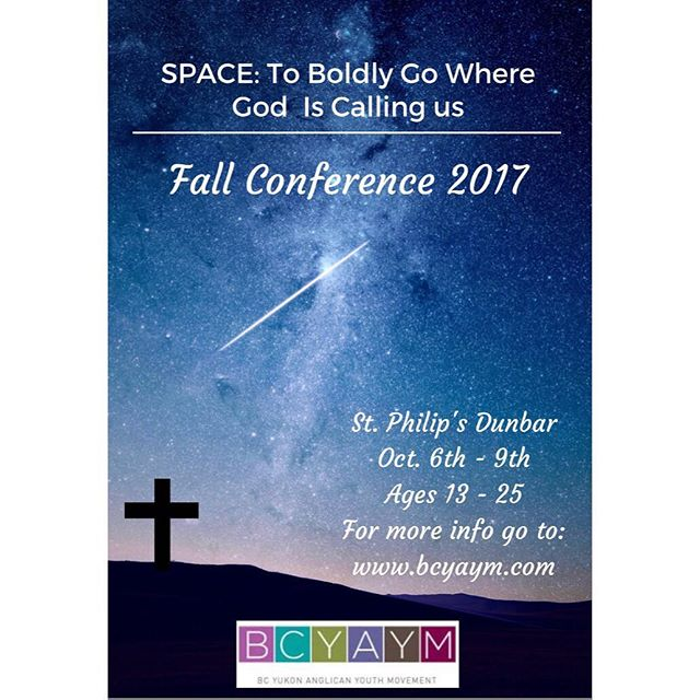 EARLY BIRD REGISTRATION! Today is your last chance to register for Fall Conference and get the early bird rate!! Fall Conference is in a few short weeks and we are so excited to see you all there so register soon!  Registration and more details can be found at bcyaym.com