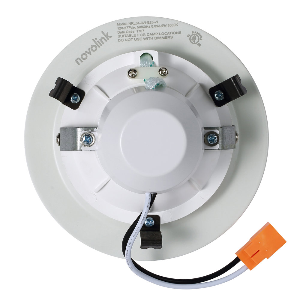 Novolink NRL04-9W-E26 4-inch LED Recessed Light Trim - Back
