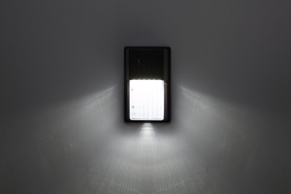 Novolink Wall Pack Light, light On, mounted to stucco, 3000x2000 pixels