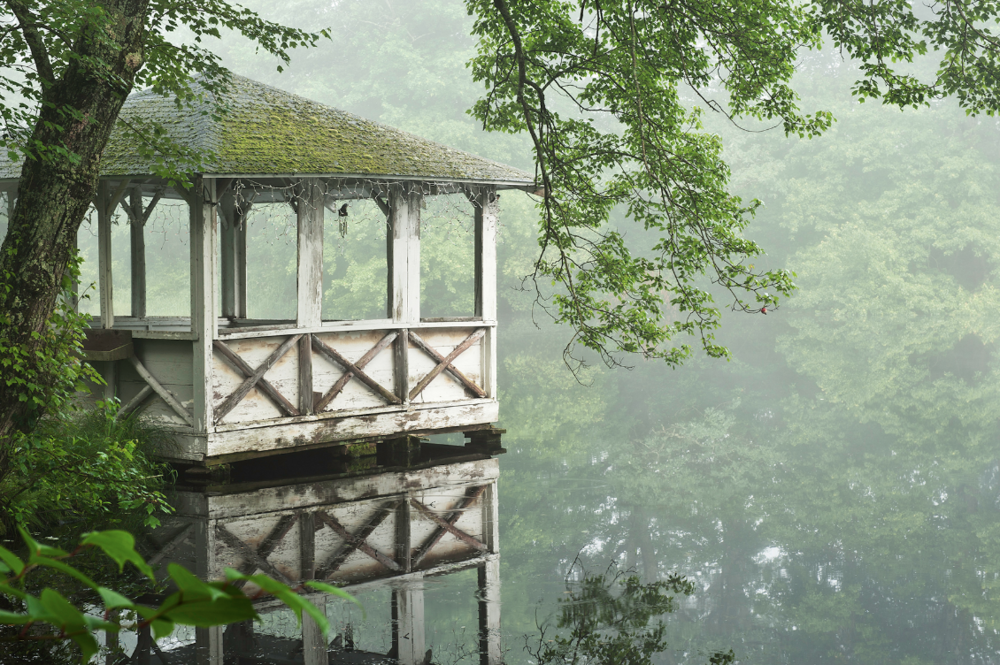 Gazebo in the Mist by Cindy Horovitz Wilson