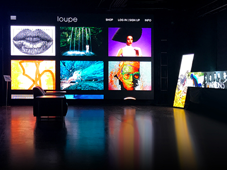 Loupe streaming in NanoLumens Visualization Center, Las Vegas