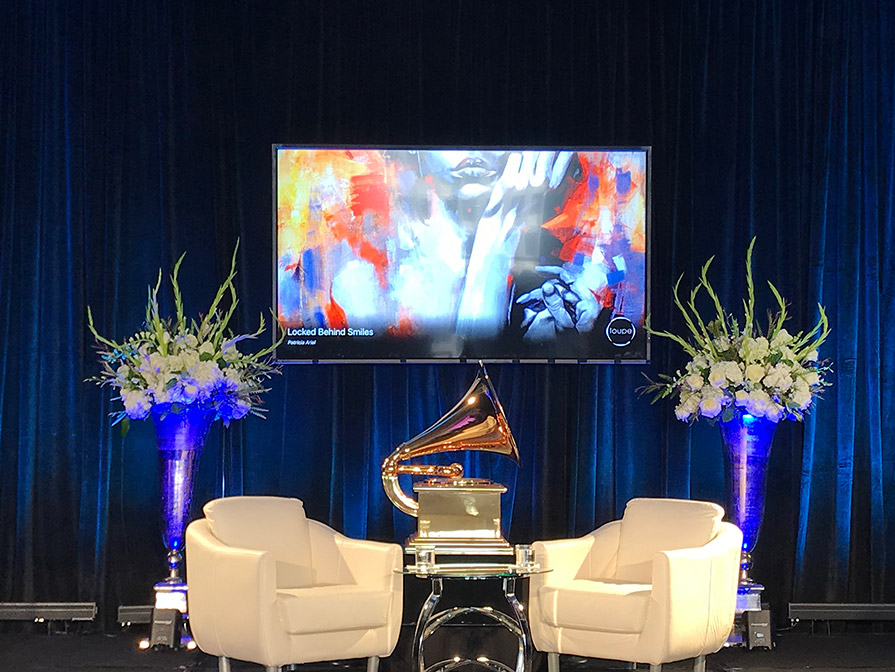 Web streaming at Grammy luncheon, The W Atlanta