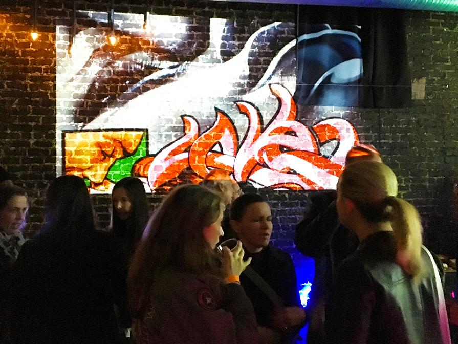 Projection at Aisle 5 Live Music Venue, Atlanta,GA
