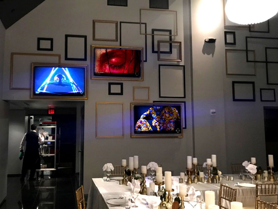 Multi-screen installation, banquet room, W Hotel