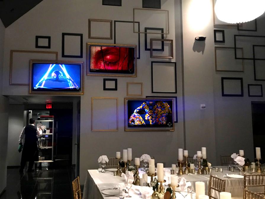 Multi-screen installation, banquet room, W Hotel