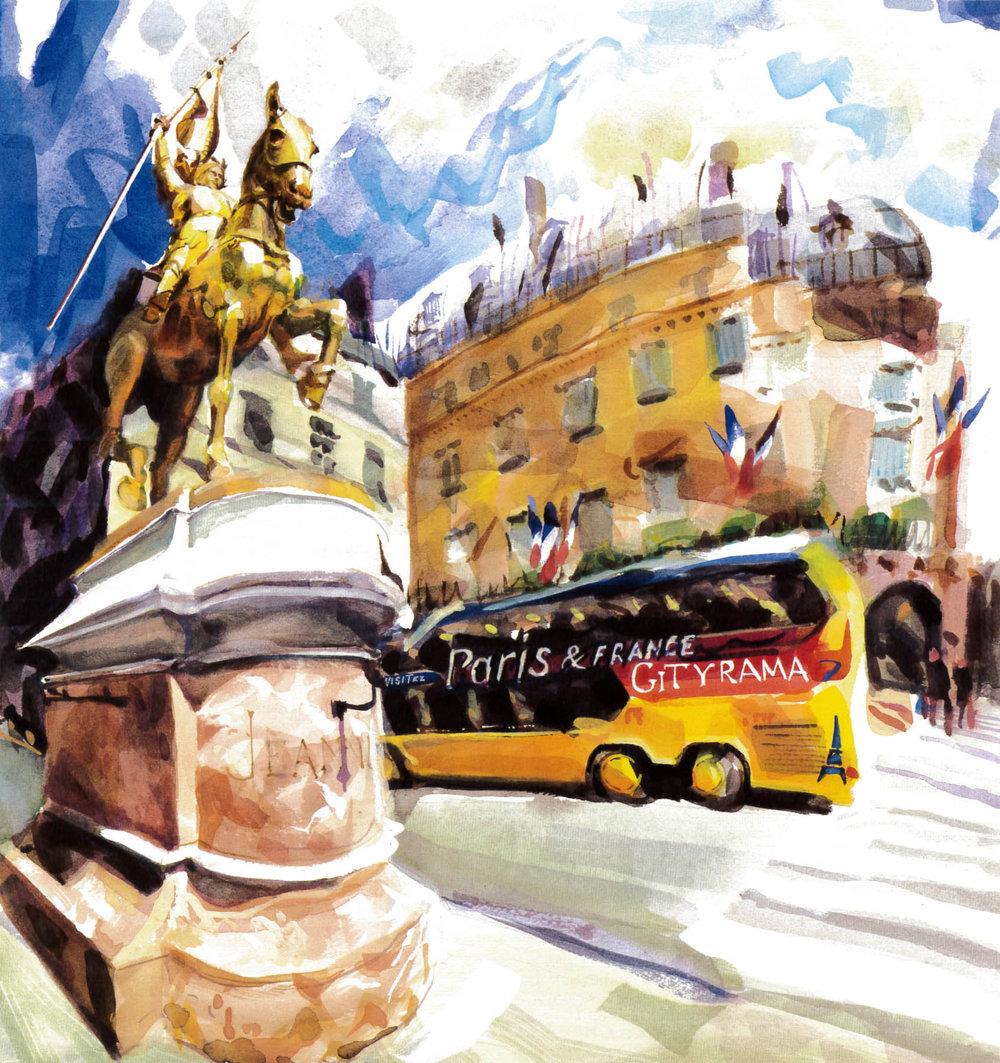 A-triumphant-Joan-of-Arc-stands-guard-on-la-rue-de-Rivoli,-Paris.-43-x-40cm.jpg