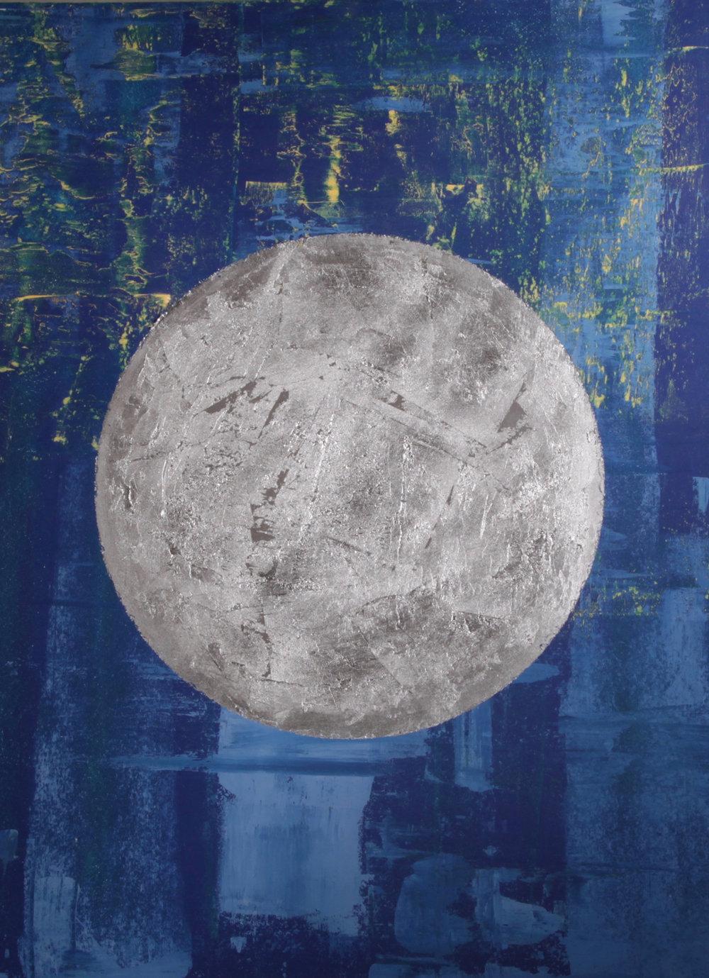ARTI NYC - Shian 100x75 cm, Acrilyc cement and Silver leaf.jpg